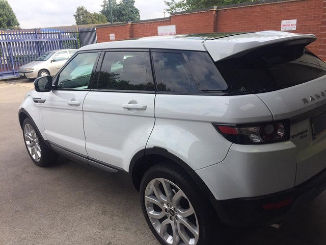 Tinted Land Rover